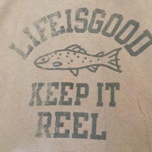 Life is Good fishing tshirt